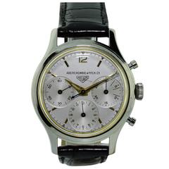 Heuer for Abercrombie & Fitch Stainless Steel Triple Register Chronograph Watch