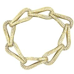 Di Modolo 3.45 Carat Total Weight Diamond Teardrop Link 18 KYG Bracelet
