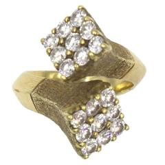 GRAFF Vintage Diamond 18 Karat Yellow Gold  Crossover Fashion Ring
