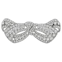 1950s Diamond platinum Bow Brooch