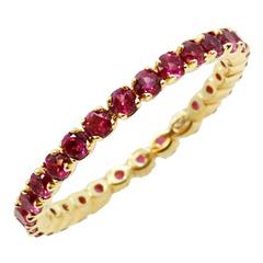 Ruby Gold Eternity Band