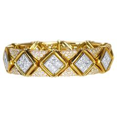 Bulgari Diamond Gold Platinum Bracelet