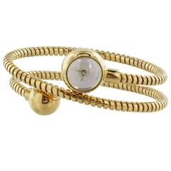 Van Cleef & Arpels yellow gold double sphere Retro Coil Wristwatch