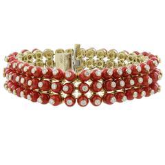 Aletto Bros Coral Diamond Bracelet