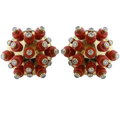 Aletto Brothers Coral Diamond Earrings