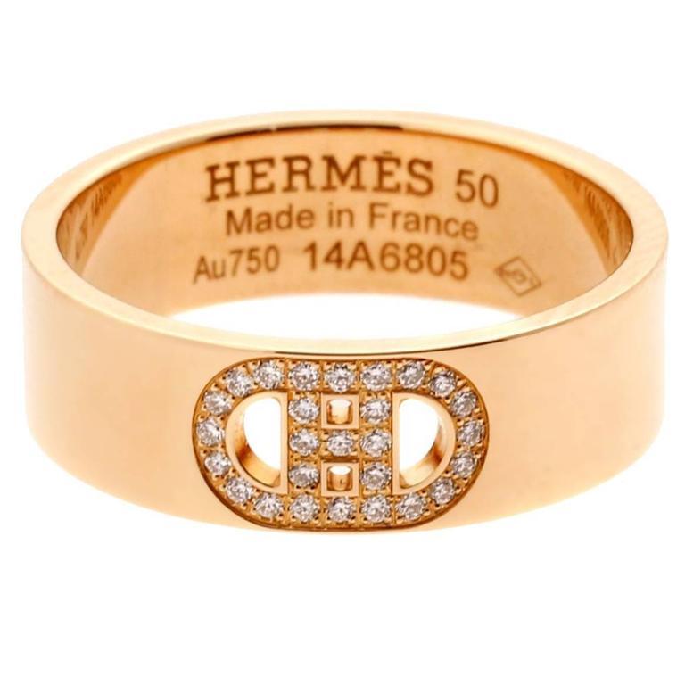 7bff2e3a88e6 ... aliexpress hermes h dancre diamond rose gold ring for sale 6b974 13c73