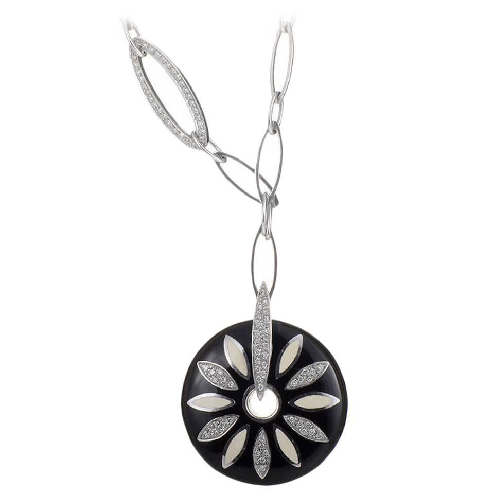 flower real uk silver joolsjewellery pendant daisy products co large jools necklace pink jewellery
