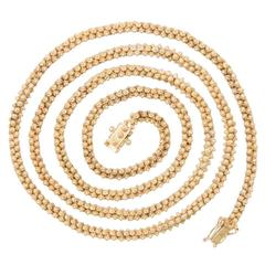Long Granulated Gold Necklace