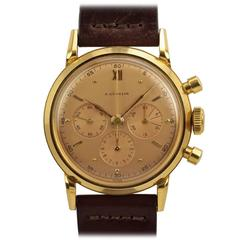 Gubelin Yellow Gold Chronograph Wristwatch