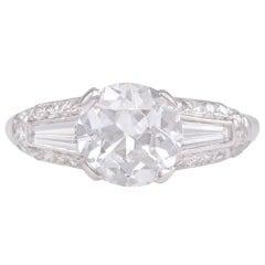 Shreve & Co. Art Deco Diamond Platinum Engagement Ring