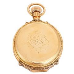 Waltham Yellow Gold Hunting Case Pocket Watch c1882