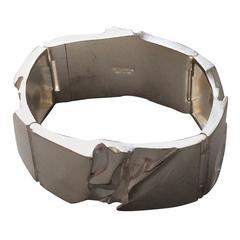 Bjorn Weckstrom Lapponia Modernist Sterling Silver Galactic Bracelet