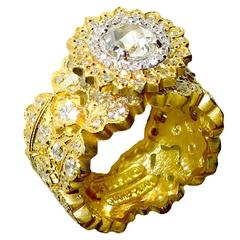 Stambolian Diamond Gold Openwork Ring