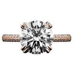Alexandra Mor Engagement Ring with 3.13 Ct Ideal Cut F VS2 Brilliant cut Diamond
