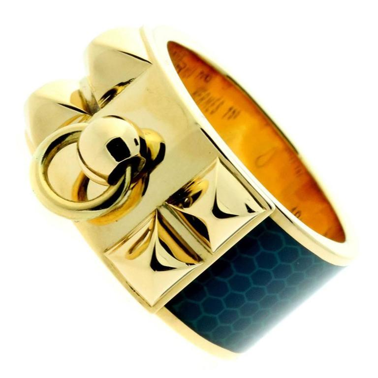 Hermes Gold Collier de Chien Ring