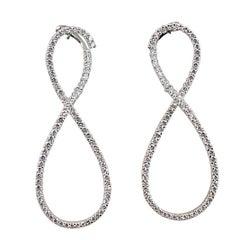 Jona Infinity White Diamond 18 Karat White Gold Drop Earrings
