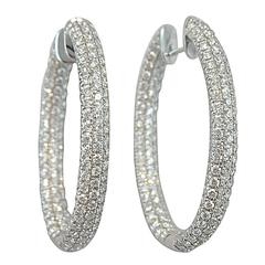 Jona Pave Diamond Gold Hoop Earrings
