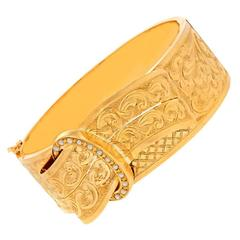 Spectacular Victorian Gold Bangle