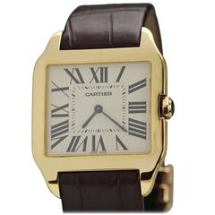 Cartier Yellow Gold Santos manual-wind Wristwatch