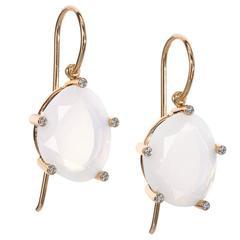 Erich Zimmermann Fire Opal Diamond Gold Snowflake Earrings