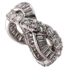 1950s Diamond Platinum Eternity Band Ring