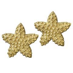 Valentin Magro Gold Starfish Shell Earrings