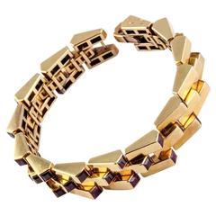 Boucheron Retro Ruby Gold Escalator Bracelet