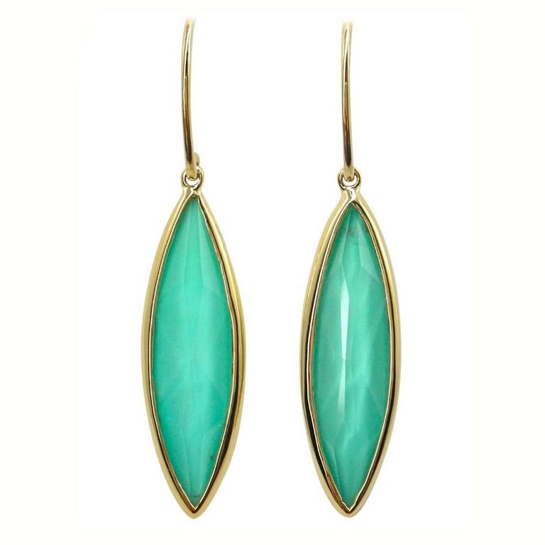 Jona Turquoise Quartz 18k Yellow Gold Drop Earrings