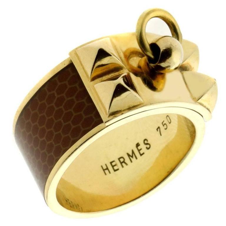 Hermes Collier de Chien Gold Ring For Sale
