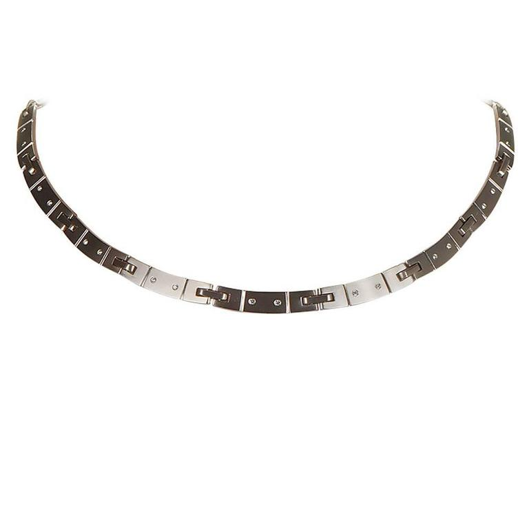 Tiffany & Co. Diamond Gold Collar Necklace For Sale