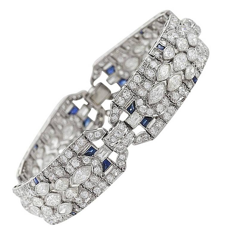 1920's Art Deco Diamond and Platinum Bracelet