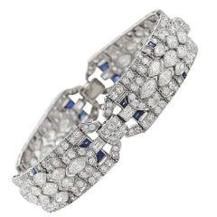 1920s Art Deco Diamond and Platinum Bracelet