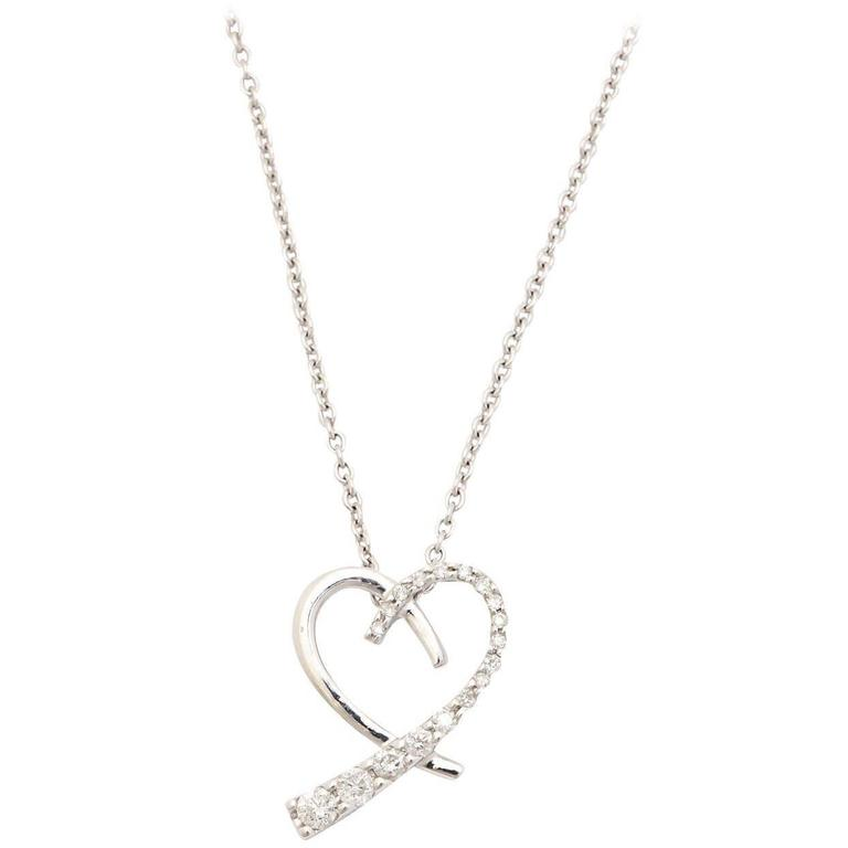 Diamond Gold Journey Heart Pendant Necklace