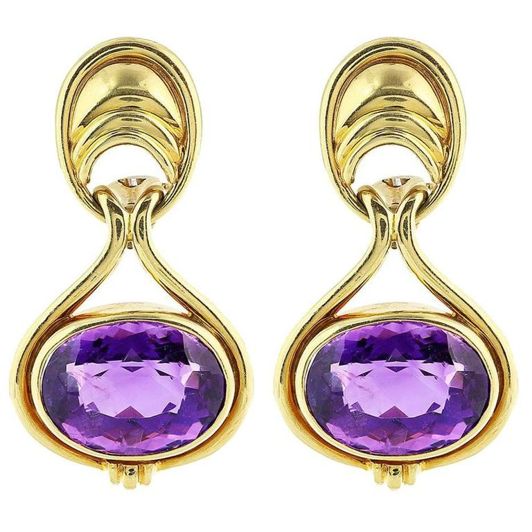 Tiffany & Co. Amethyst Earrings