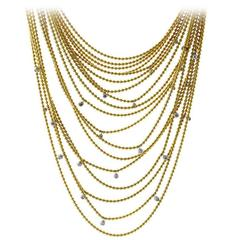 Cartier Glamorous Diamond Gold Necklace