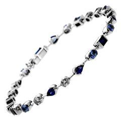 Cartier Meli Melo Ceylon Sapphire Diamond Gold Bracelet
