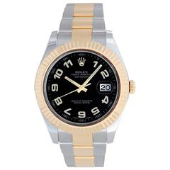 Rolex Stainless Steel yellow Gold Datejust II Automatic Wristwatch Ref 116333
