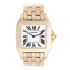 Cartier Yellow Gold Santos Demoiselle Quartz Wristwatch Ref W25062X9