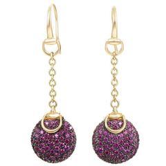 759a7996bd5 Gucci Chiodo Nail Gold Drop Earrings at 1stdibs