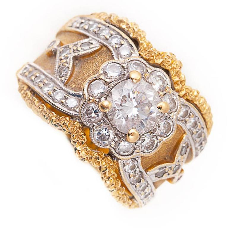Diamond 18 Karat Gold Band Ring