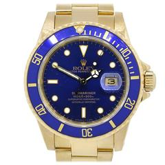 Rolex Yellow Gold Submariner Chronometer Wristwatch Ref 16808