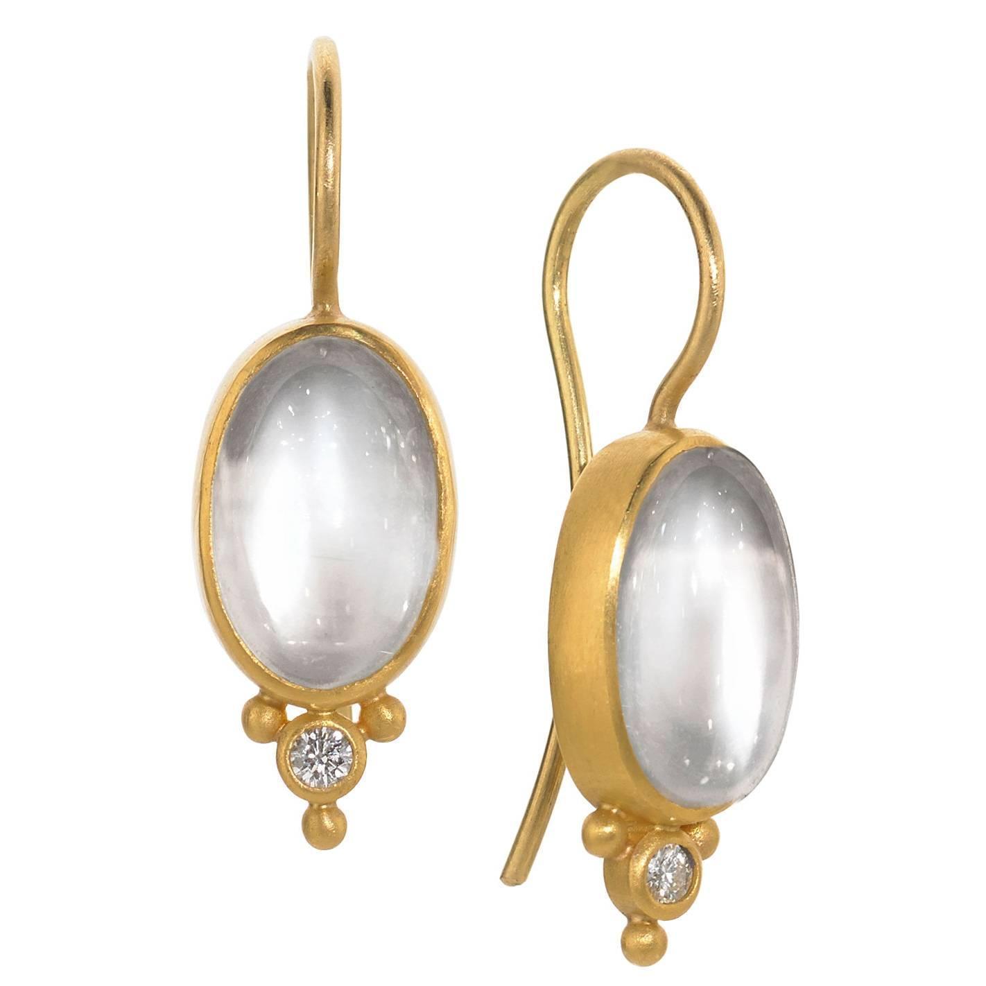 Denise betesh cat 39 s eye moonstone diamond gold platinum for Cat s eye moonstone jewelry