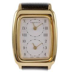 Tiffany & Co. Lady's Yellow Gold Dual Time Zone Quartz Wristwatch