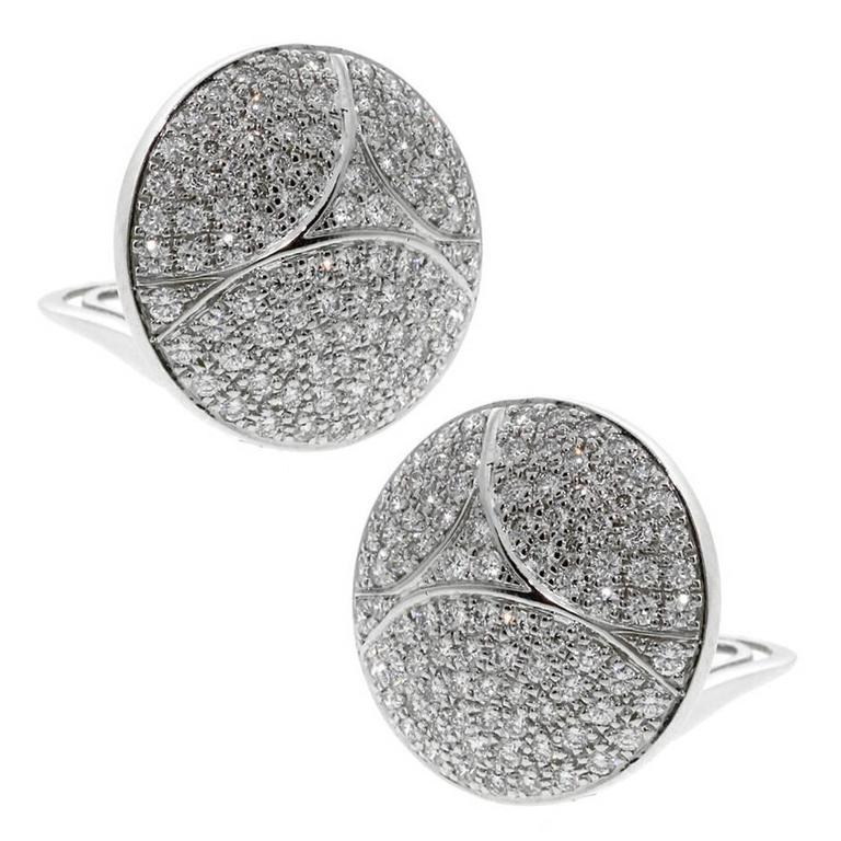 Cartier Pave Diamond Gold Earrings 1