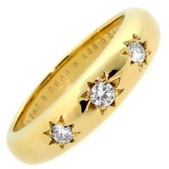 Van Cleef & Arpels Starburst Diamond Gold Ring