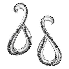 Naomi Sarna Black Diamond Palladium Earrings
