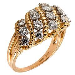 Oscar Heyman Diamond Gold Openwork Diamond Ring