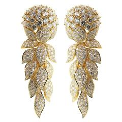 Cartier Magnificent Diamond Gold Day Night Earrings