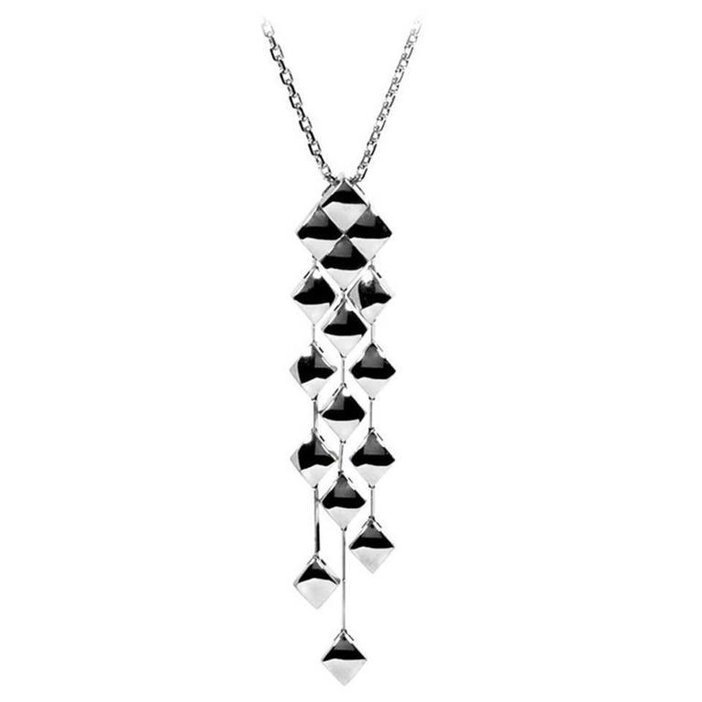 Chanel Matelasse White Gold Necklace