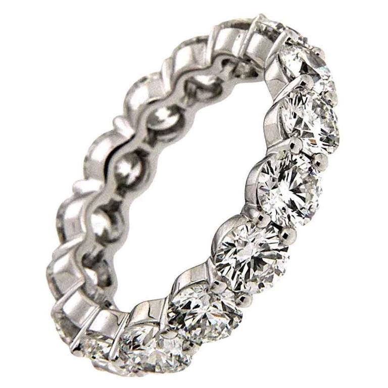 Diamond Platinum Eternity Band Ring